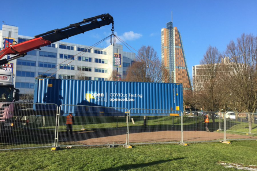 COVID Mutant Monitoring labs installed on Gateway East site