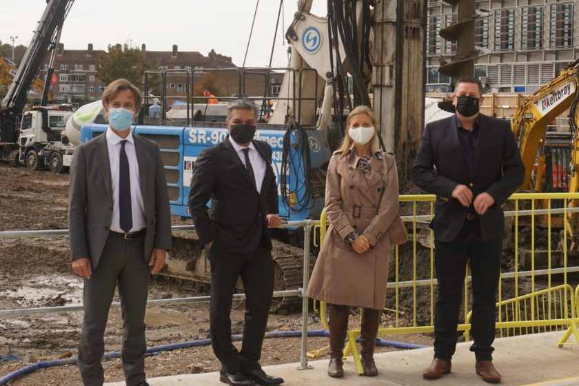 Leader of Hammersmith and Fulham Council Stephen Cowan visits new Gateway Central site